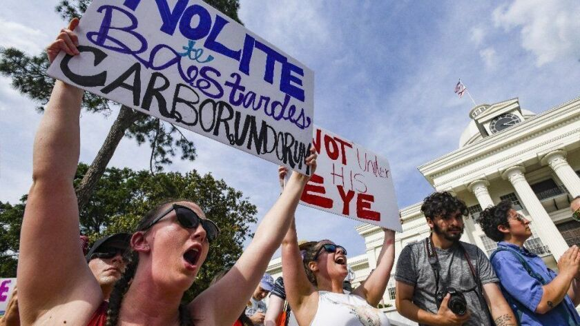 March For Reproductive Freedom Held In Response To New Alabama Abortion Law