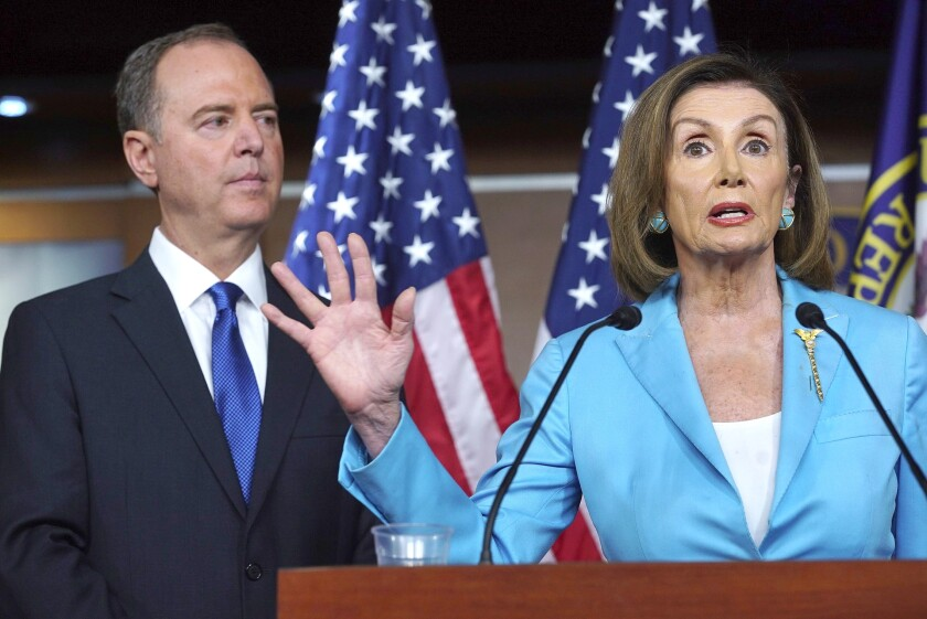 Pelosi says no House vote on impeachment inquiry for now - Los ...