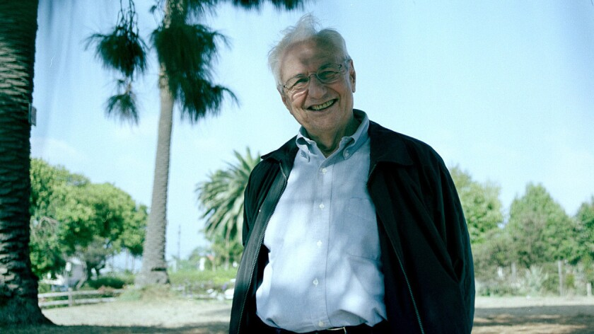 Architect Frank Gehry as seen in Venice, Calif. in 2002.
