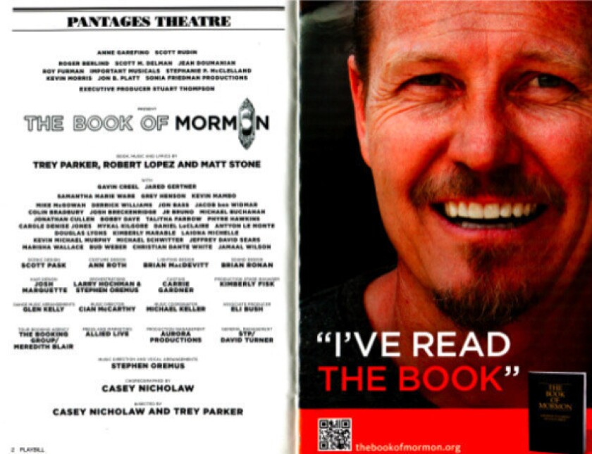 Mormon Church buys ads in 'Book of Mormon' playbill in L.A.