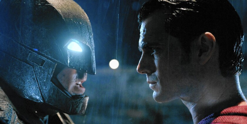 "Ben Affleck and Henry Cavill in ""Batman vs. Superman: Dawn of Justice."""