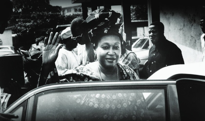 "Kudirat Abiola, leader of the Pro-Democracy Movement in Nigeria in 1997, in the documentary ""Supreme Price."""