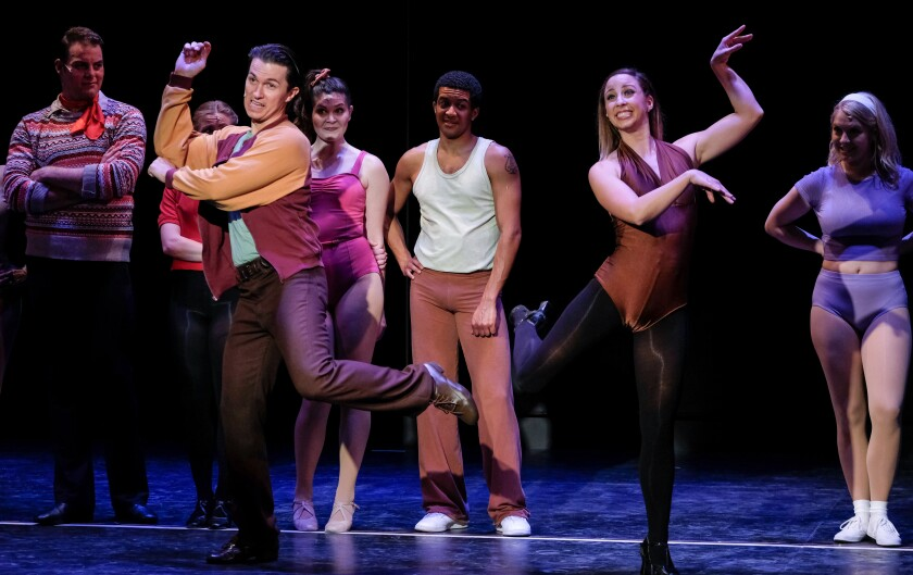 "A scene from the Welk Resorts Theatre's ""A Chorus Line."""
