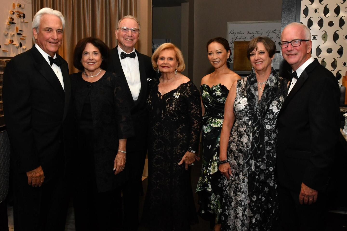 Dr. Warren and Karen Kessler (he's SDS board chair), Irwin and Joan Jacobs, June Shillman (gala chair), Martha and Bill Gilmer (she's SDS CEO)