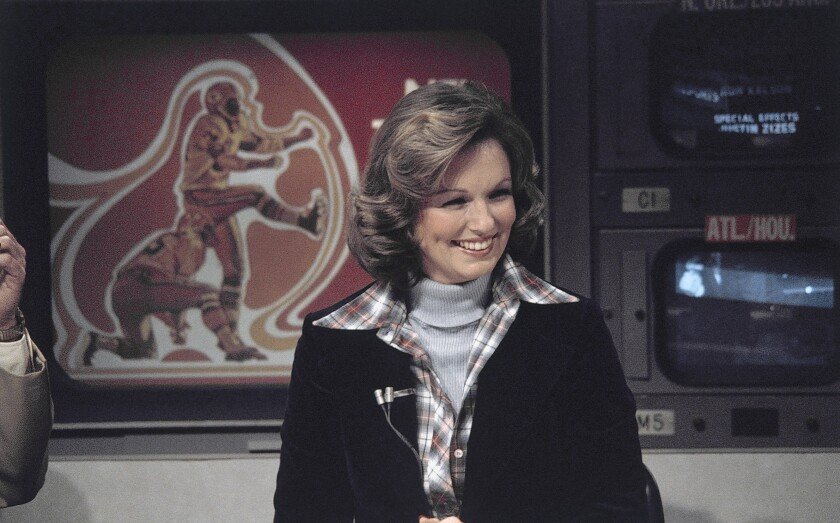 """Phyllis George, a former Miss America who became a female sportscasting pioneer on CBS' """"The NFL Today,"""" in 1976."""