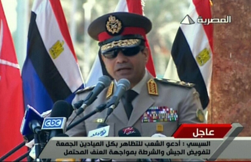 Egypt's military chief asks public support to fight 'terrorism'