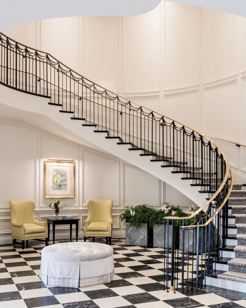 Stairway at the Rosewood Miramar Beach hotel in Montecito, Calif.