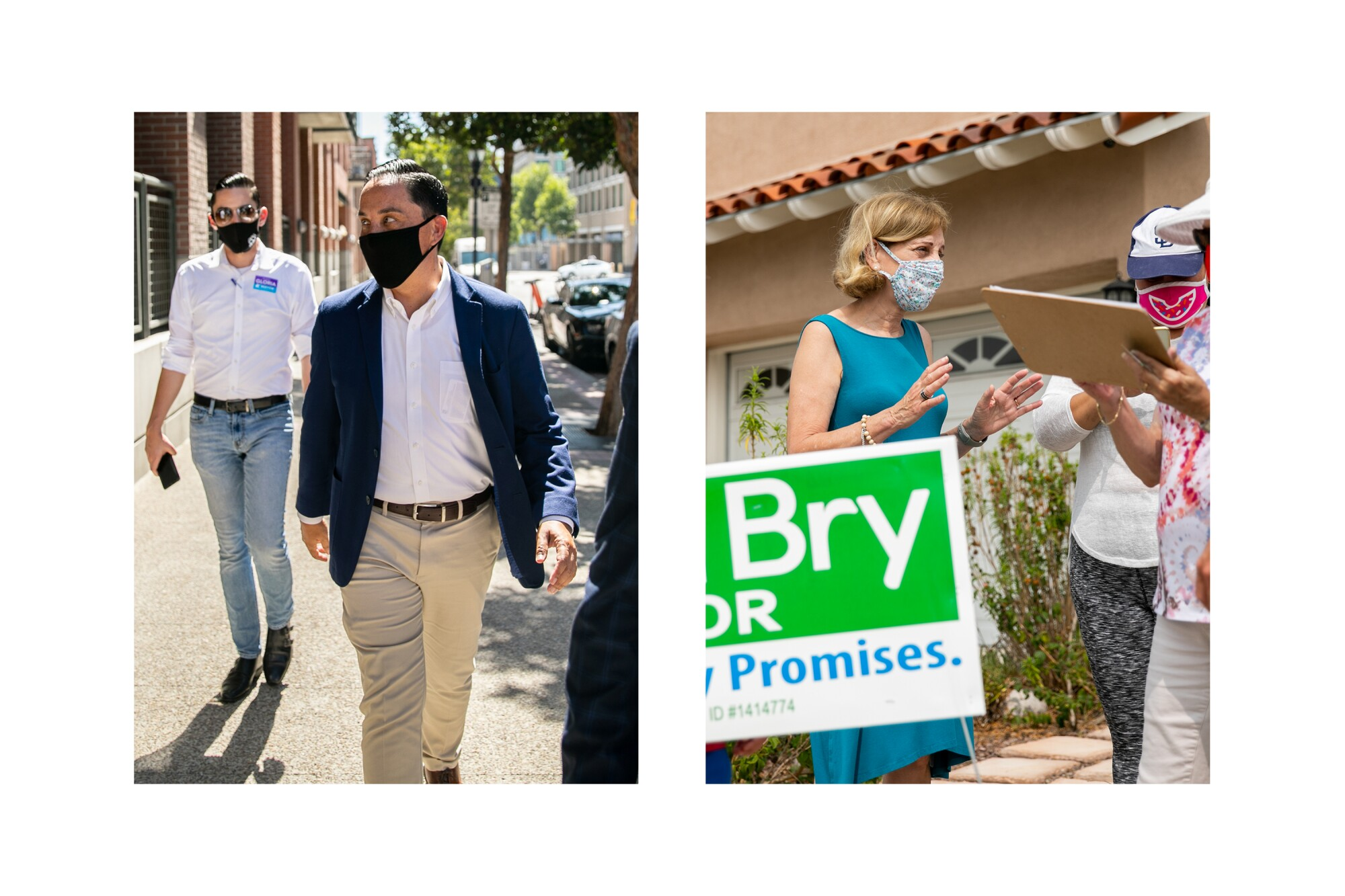 Todd Gloria and Barbara Bry are running for mayor of San Diego.