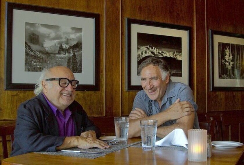 """Judd and I have this wonderful mutual admiration society thing going on,"" Danny DeVito, left, says of longtime pal and fellow Sunshine Boy Judd Hirsch."