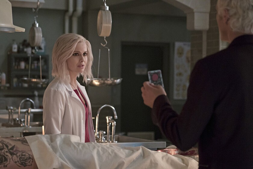 Liv Moore (Rose McIver) sinks into death-obsessed despair while investigating the murder of a goth illusionist in the 'Abra Cadaver' episode of 'iZombie'