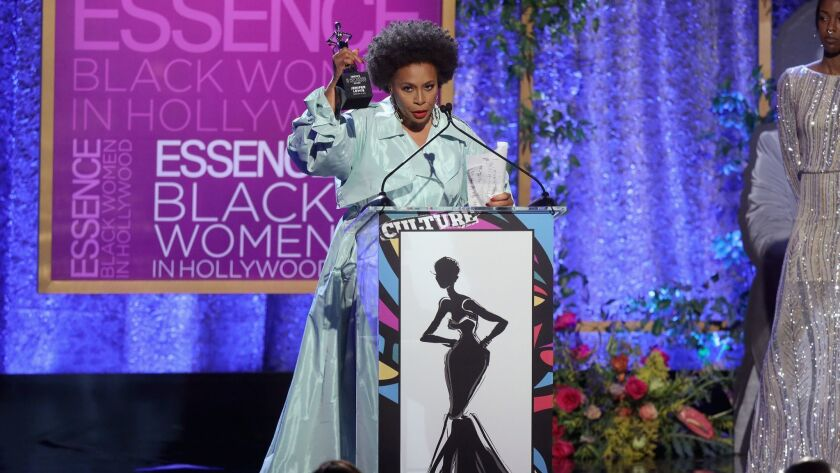 Honoree Jenifer Lewis accepts her award during the 2019 Essence Black Women in Hollywood Awards luncheon at the Regent Beverly Wilshire Hotel on Feb. 21 in Los Angeles.