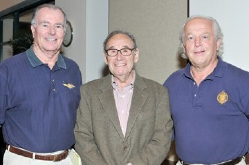 Honorary Chairman Guy Freeborn, veteran Ed Mayers, AFIG Chairman Chuck Nash. Photos by Jon Clark