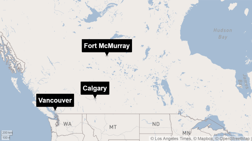 Fort McMurray locator