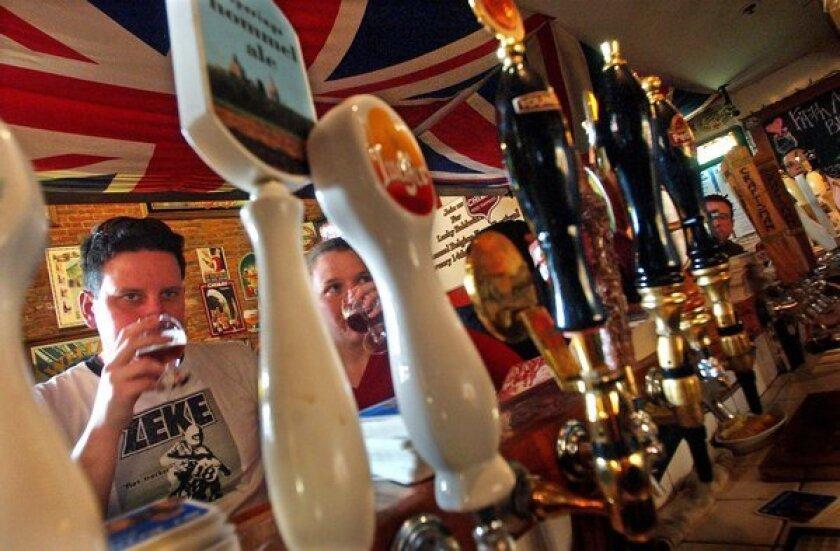 Lucky Baldwin's in Old Town Pasadena has unusual Belgium beers.