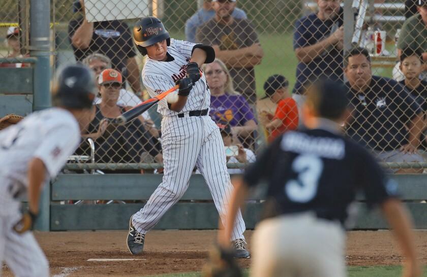 Huntington Valley's Justin Garcia hits a walk-off home run.
