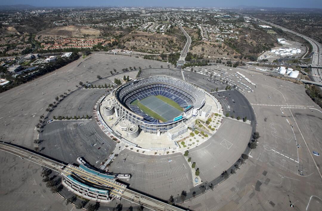 Stadium and environs aerial photographs