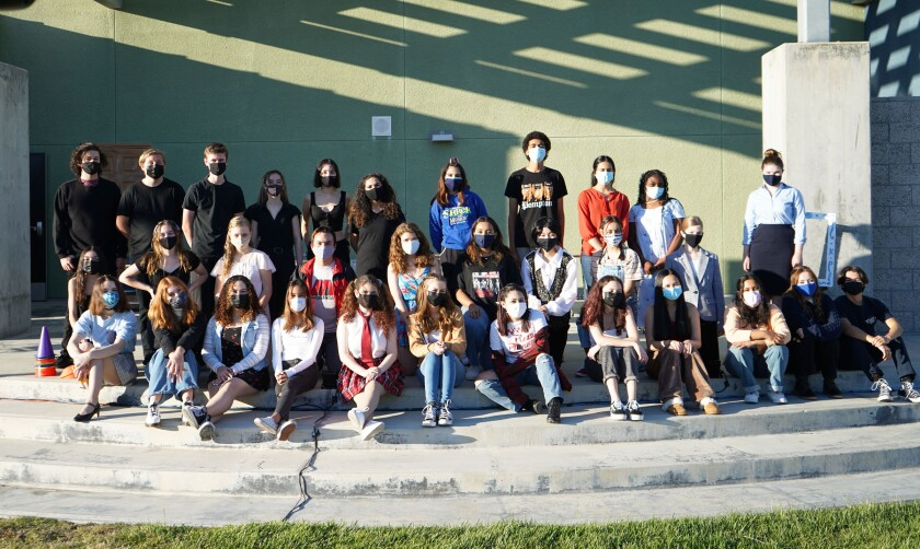 The cast and crew of Del Norte High's one-act festival, presented to a limited audience outdoors on April 29 and 30.