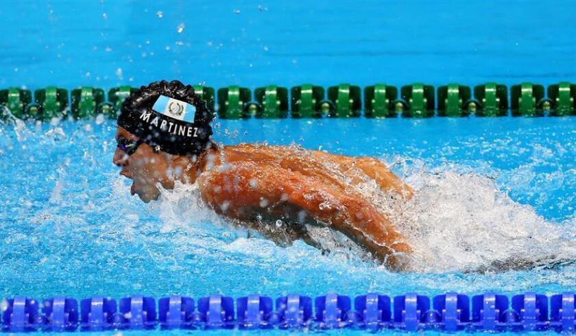 En la imagen un registro del nadador guatemalteco Luis Carlos Martínez. EFE/Archivo