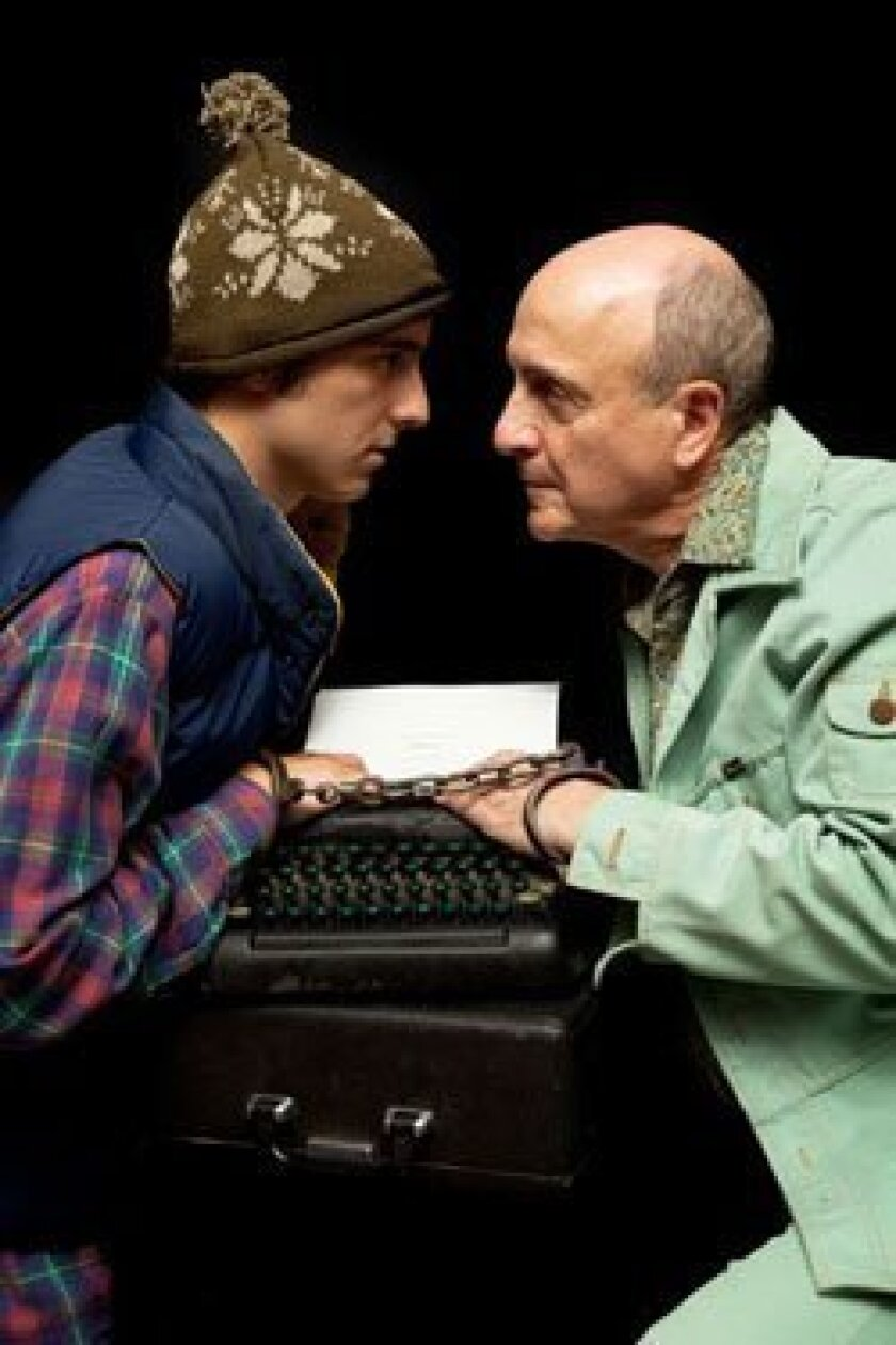 """Kevin Koppman-Gue and Eric Poppick in """"Deathtrap"""" at Scripps Ranch Theatre."""