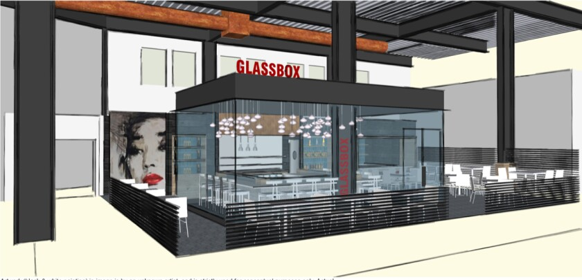 Glass Box, a glass-encased sushi bar, is the final tenant to sign for the Sky Deck venue in Carmel Valley