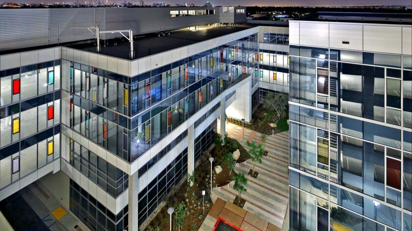 An office campus across from Sunset Las Palmas Studios in Hollywood has sold for $186 million.