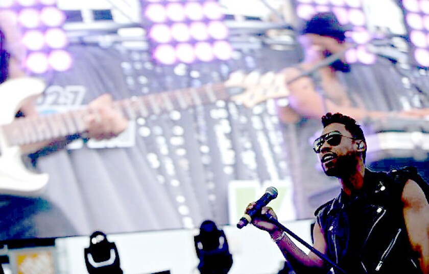 Miguel performs at Wango Tango 2013 at the Home Depot Center in Carson on May 11, 2013.