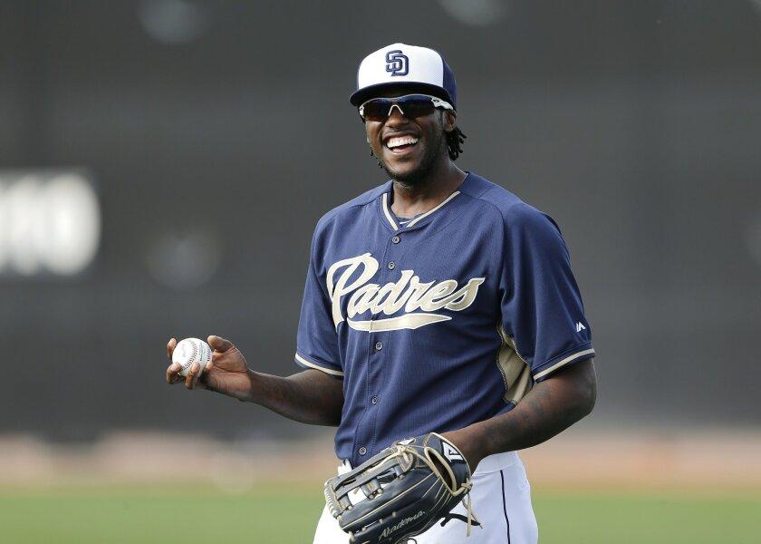 Cameron Maybin at the Padres spring training.