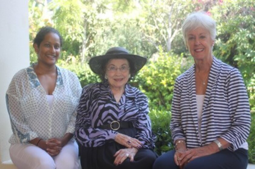2014 Club President Mithu Sherin, Historian Merle Lotherington and House Director Pat McGill at the 100-year-old La Jolla Woman's Club. Ashley Mackin
