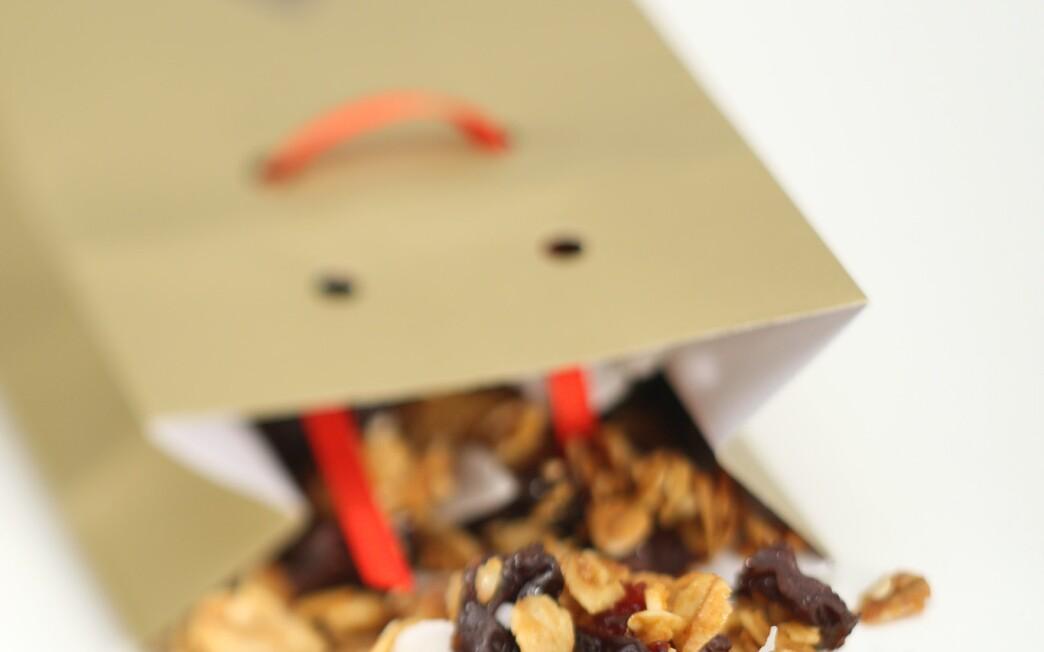 Cherry-almond-coconut granola