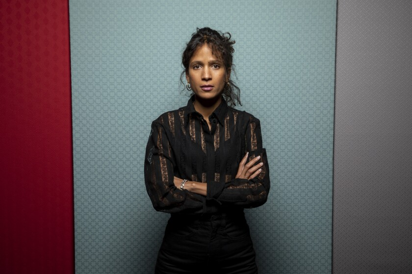 "Director Mati Diop of the film ""Atlantics,"" photographed in the L.A. Times Photo Studio at the Toronto International Film Festival on Sept. 8."