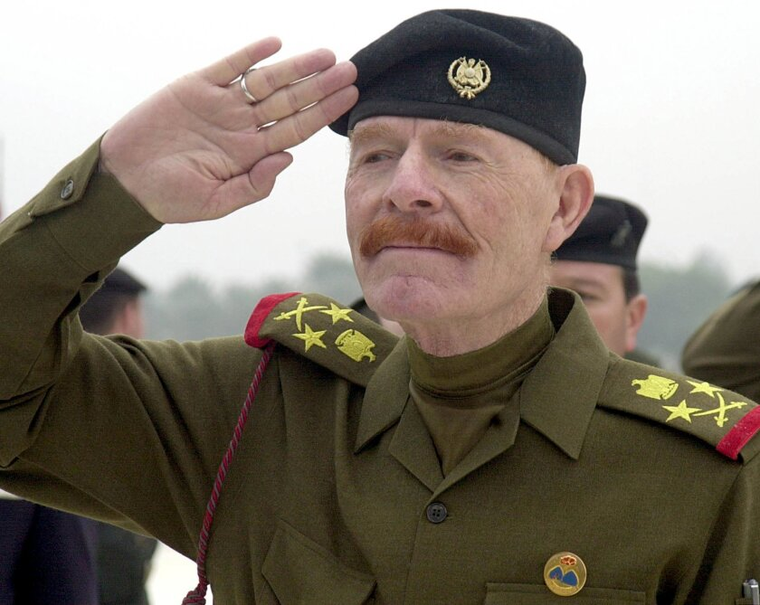 Izzat Ibrahim, shown on Dec. 1, 2002, while serving as vice chairman of Saddam Hussein's Revolutionary Command Council.