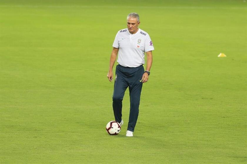 El técnico de la selección de fútbol de Brasil, Tite. EFE/Archivo