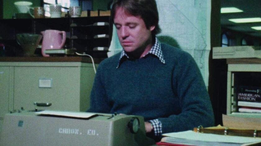 """Armistead Maupin, seen here working at the San Francisco Chronicle in the mid-1970s, is the subject of """"The Untold Tales of Armistead Maupin,"""" the closing night film of FilmOut San Diego's 19th Annual LGBT Film Festival."""