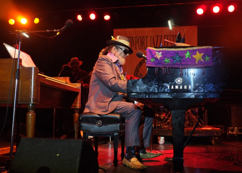 Dr. John, shown performing at the 2012 Newport Jazz Festival, will be the subject of an all-star concert salute on May 3 in New Orleans.