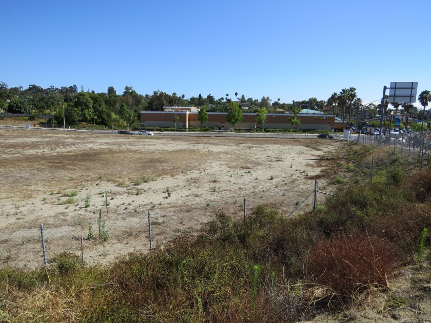 View from Highway 78 of the Sunroad Plaza center property in Vista.