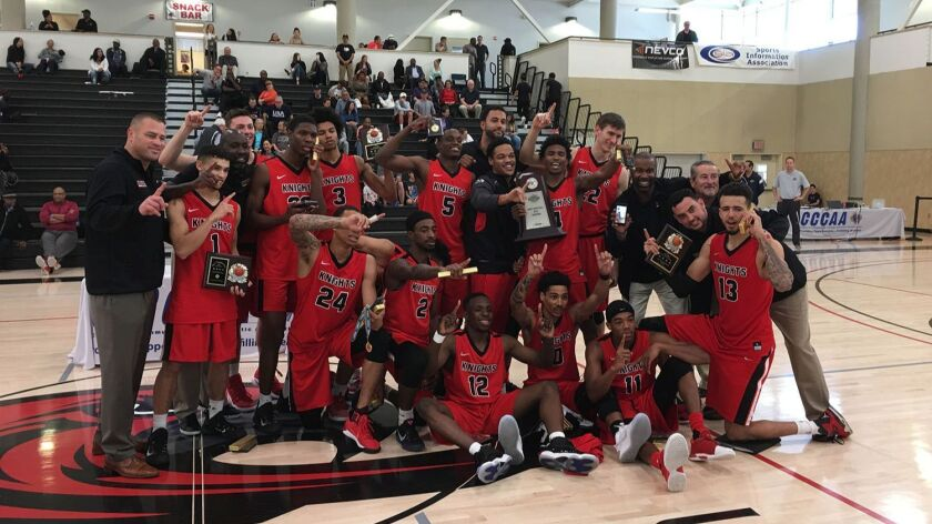 San Diego City College became the first San Diego school to win the state title in men's basketball in 2017.