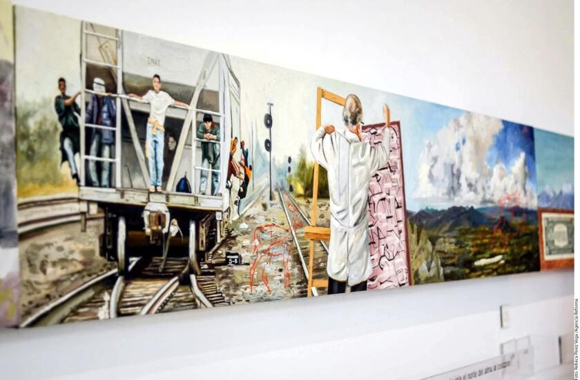 """La colección """"Montar la Bestia"""" ya se exhibió en el Museo Nacional de los Ferrocarriles Mexicanos y en marzo viajará al Fisher Museo de Arte de la Universidad del Sur de California, para después hacer lo propio en el Museo de Arte Mexicano de San Francisco."""