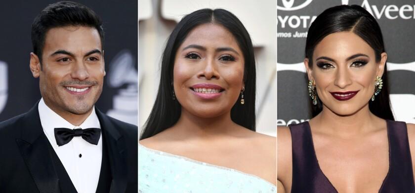 Carlos Rivera, Yalitza Aparicio y Ana Brenda Contreras
