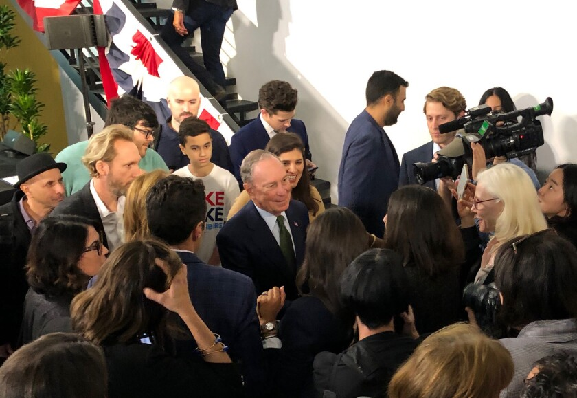 2020 Election Bloomberg Los Angeles