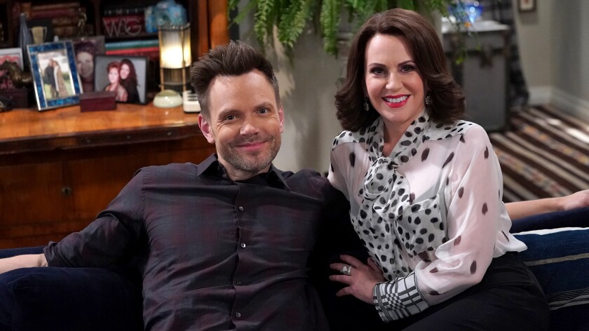 "Joel McHale and Megan Mullally in ""Will & Grace"" on NBC."
