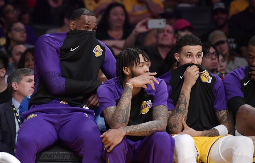 LeBron James, Brandon Ingram, Kyle Kuzma