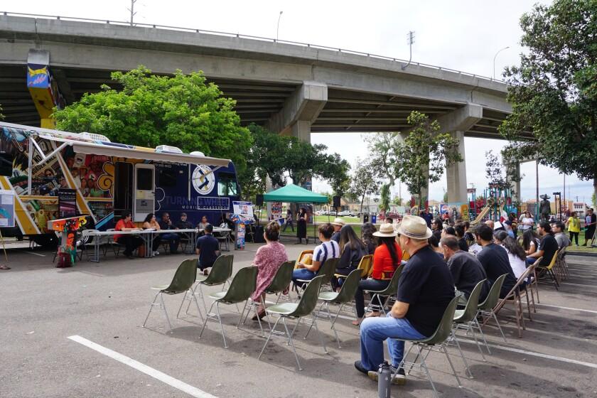 Barrio Logan residents discuss gentrification in their neighborhood