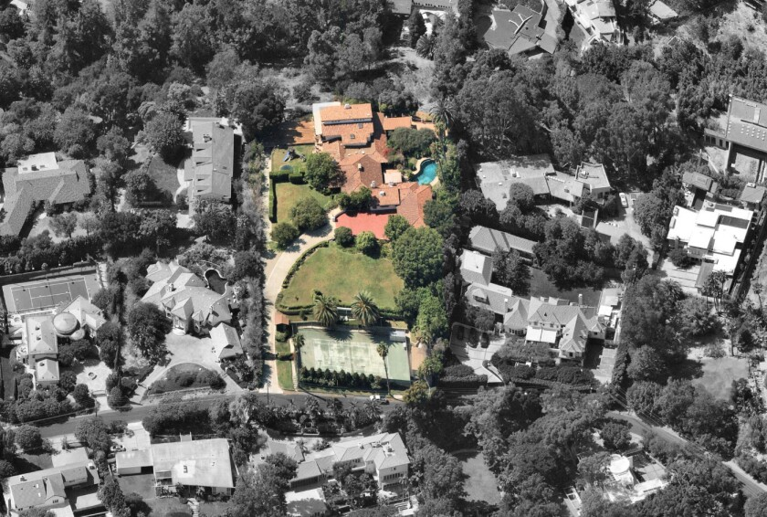 John Travolta and Kelly Preston's Brentwood compound