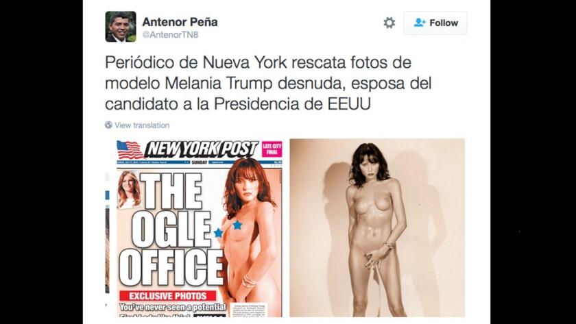 Publican fotos de Melania Trump totalmente desnuda acompañada de otra mujer y a Donald Trump no le importa