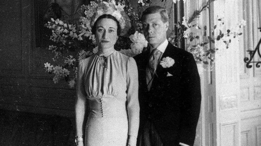 FILE - In this June 3, 1937 file photo, the Duke and Duchess of Windsor pose after their wedding at