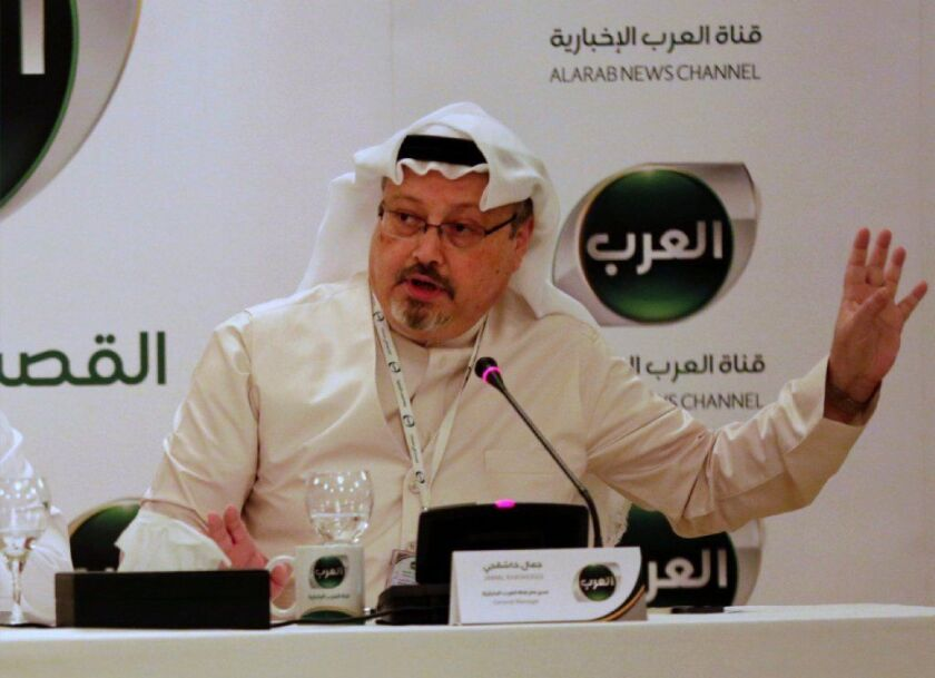 Saudi writer Jamal Khashoggi disappeared Oct. 2 after visiting his country's consulate in Istanbul. Turkish authorities believe he may have been killed.