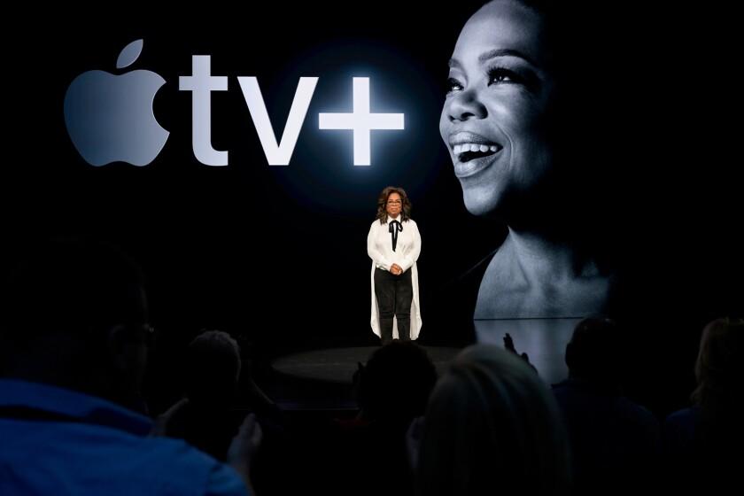 Oprah Winfrey at Apple TV+ event