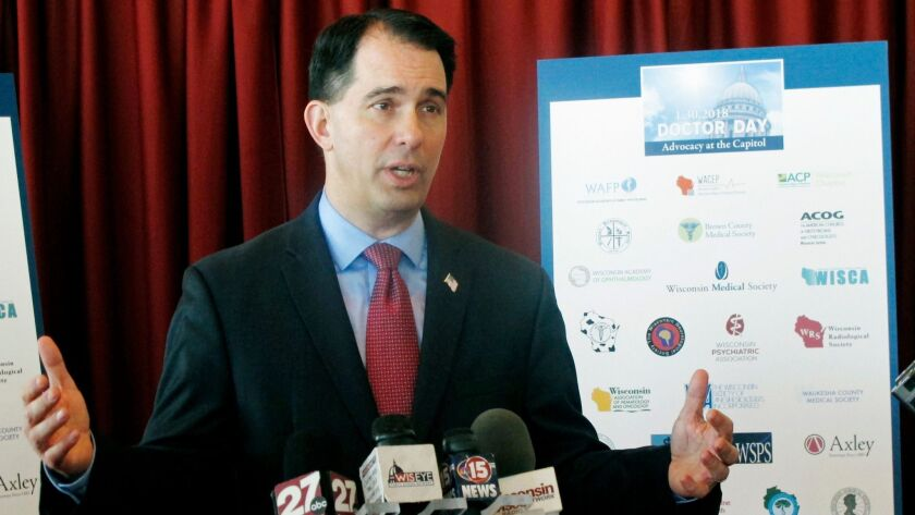 Wisconsin Gov. Scott Walker sued in 2015 to be able to give drug tests to adults applying for food stamps.