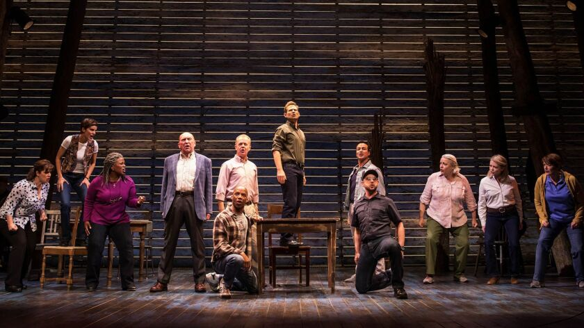 """A scene from the La Jolla Playhouse-bred Broadway musical """"Come From Away."""""""