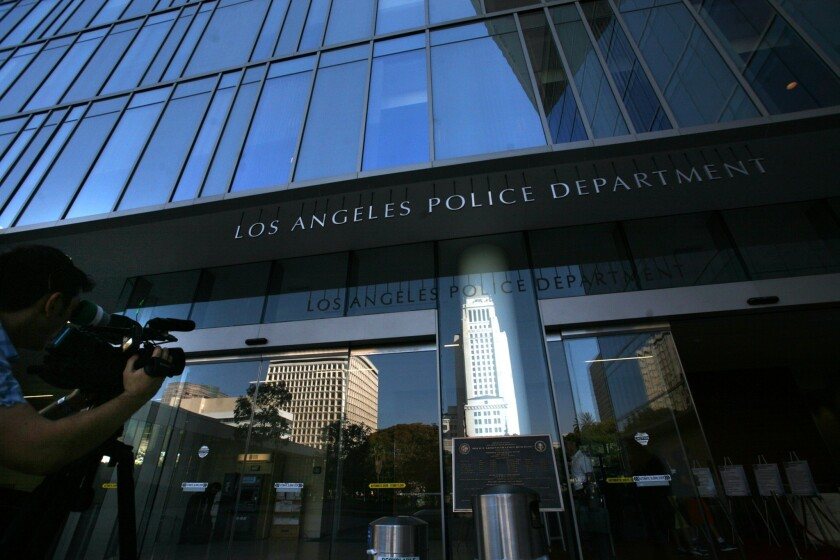 The Los Angeles Police Department's headquarters in 2011.